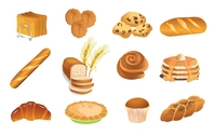 food,bakery,baked,good,bread,croissant,donut,cake,loaf,loaves,tasty,pie,waffle,hotcake