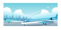 commercial,flight,airport