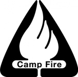 camp,fire,logo