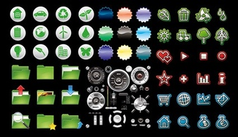 Elements,Icons,Objects